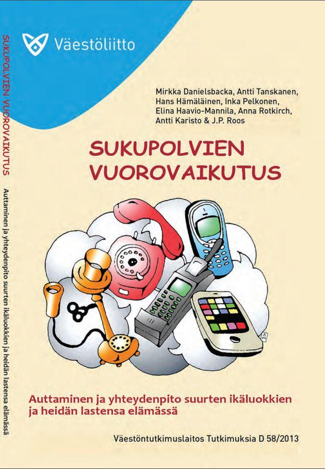 Piirros, jossa on eri aikakausien puhelimia kasassa, vanhoista lankapuhelimista älypuhelimiin.