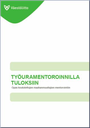 Womento-opas kansikuva, jossa tekstiä vihreällä.