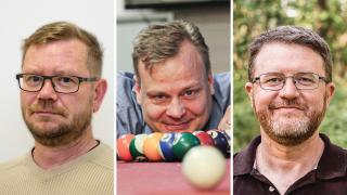 Vuoden Isien 2020 kasvokuvat vasemmalta oikealle: Petri Hartikainen, Vesa Ilola ja Fabrizio Trotti.