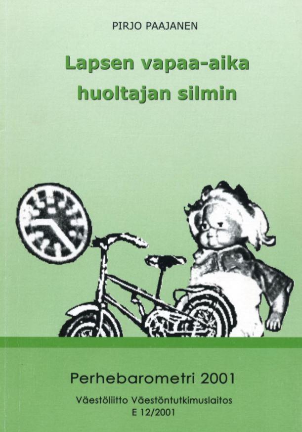 Piirrokset kellosta, polkupyörästä ja nukesta.