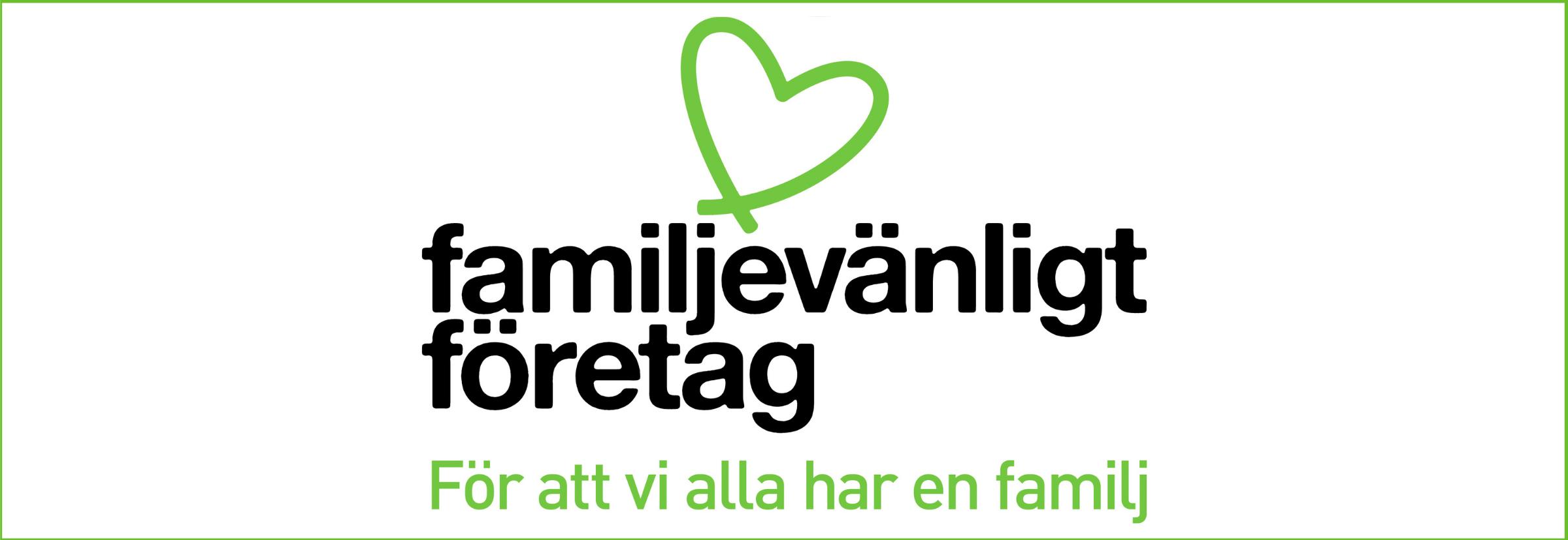 familjevänlight företag -banneri