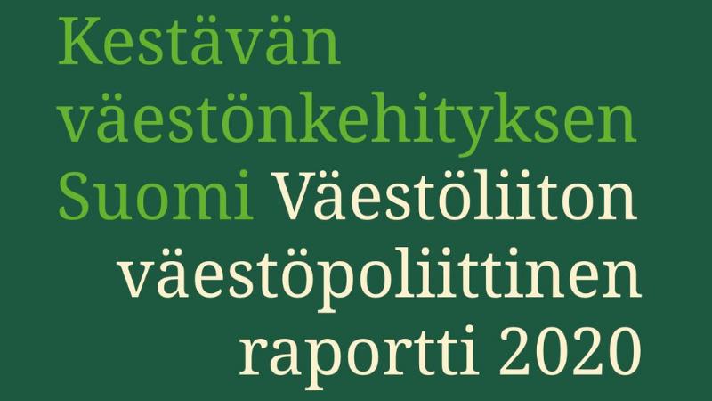 Väestöliiton väestöpoliittinen raportti 2020 kansikuva