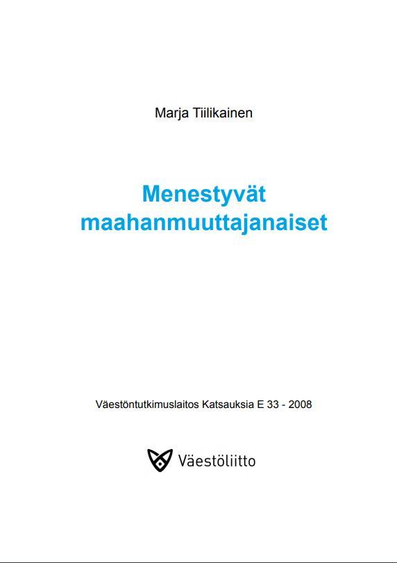 Teoksen nimi, julkaisutiedot ja Väestöliiton logo valkoisella pohjalla.