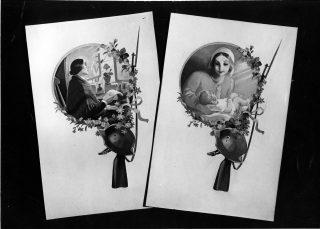 Äitienpäivän kortteja.
