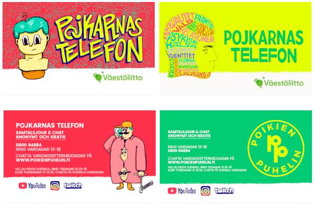 Pojkarnas telefons svenskspråkiga flyers