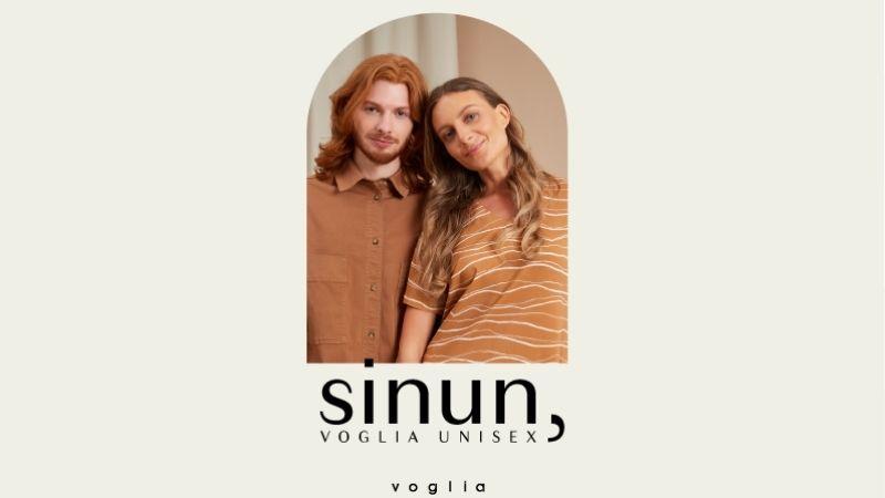Voglian Sinun-unisextuotteiden kampanjakuva.